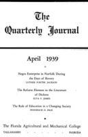 Quarterly journal, Vol. 8, No.2,  April 1939