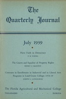 Quarterly journal ; Vol. 8, no. 3, July 1939