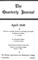 Quarterly journal , Vol. 9, No. 2, April 1940
