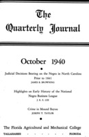 Quarterly journal, Vol. 9, No. 4, October 1940