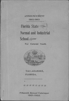 1901-1902 Fifteenth Annual Catalog Florida State Normal and Industrial School For Colored Youth Tallahassee, Florida