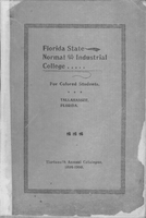 1899-1900 Thirteenth Annual Catalogue of Florida State Normal & Industrial College For Colored Students, Tallahassee, Florida,