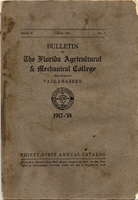 Bulletin of the Florida Agricultural and Mechanical College (for Negroes). 1917-18. Series X. No. 7