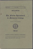 Bulletin of the Florida Agricultural and Mechanical College