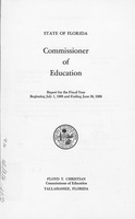 State of Florida Commissioner of Education Report for the Fiscal Year