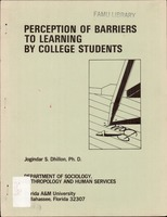 Perception of barriers to learning by college students