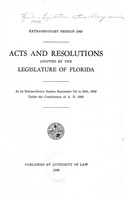 Acts and resolutions adopted by the Legislature of Florida : At its extraordinary session. (1949)