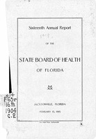 Annual report - State Board of Health, State of Florida. Vol. 16 (1904)