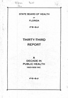 Annual report - State Board of Health, State of Florida. Vol. 33 (1923-1932)