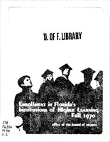 Enrollment in Florida's institutions of higher learning. Fall, 1970