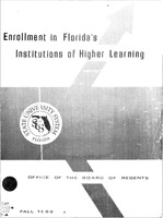 Enrollment in Florida's institutions of higher learning. Fall, 1969