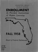 Enrollment in Florida's institutions of higher learning. Fall, 1958