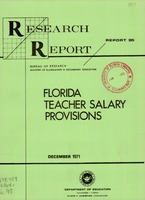 Florida Teacher Salary Provisions, Florida Department of Education Research Report 95