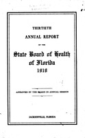 Annual report - State Board of Health, State of Florida. Vol. 13 (1918)