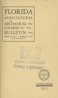 Bulletin of the Florida Agricultural and Mechanical College, Catalog of the Summer Session, 14th session, 1932