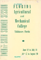 Bulletin of the Florida Agricultural and Mechanical College, Twenty-sixth annual summer session 1944