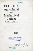 Bulletin of the Florida Agricultural and Mechanical College, Summer session 1945