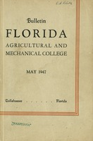 Bulletin - Florida Agricultural and Mechanical University, Tallahassee.