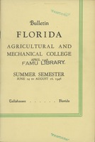 Bulletin of the Florida Agricultural and Mechanical College, Summer Semester Issue 1948, v.1, no.2 May 1948
