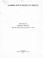 Annual report - State Board of Health, State of Florida. Vol. 37 (1936)