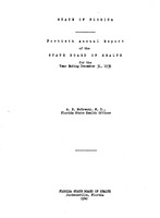 Annual report - State Board of Health, State of Florida. Vol. 40 (1939)
