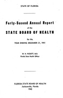 Annual report - State Board of Health, State of Florida. Vol. 42 (1941)
