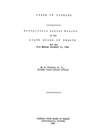 Annual report - State Board of Health, State of Florida. Vol. 41 (1940)