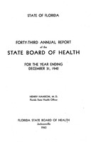 Annual report - State Board of Health, State of Florida. Vol. 43 (1942)