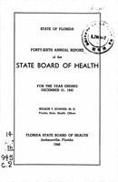 Annual report - State Board of Health, State of Florida. Vol. 46 (1945)
