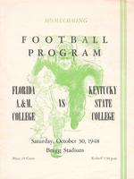 FAMU Official Program, October 30, 1948