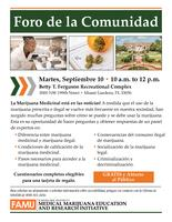 09-10-19 Community Forum Flyer Miami (Spanish)