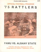 FAMU Official Program, September 20, 1975