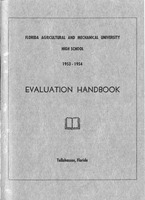 Florida A and M University High School: Evaluation handbook. 1953-1954