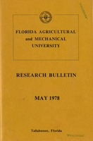 Research bulletin - Florida Agricultural and Mechanical University. 1978
