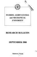 Research bulletin - Florida Agricultural and Mechanical University. 1980