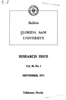 Research issue - Florida Agricultural and Mechanical University: Vol. 20, no. 1