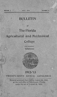 1912-1913 Bulletin - Florida Agricultural and Mechanical College for Negroes, Tallahassee Twenty-sixth edition