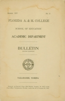 1912 School of Education Bulletin, Florida A. & M. College, (Second Quarter)
