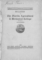 1914 Bulletin of the Florida Agricultural and Mechanical College (for Negroes). Series VII. No. 1