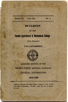 1919-1920 Bulletin of the Florida Agricultural and Mechanical College : Abridged edition of the Thirty-Third Annual Catalogue General Information