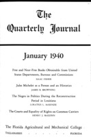 Quarterly journal, Vol. 9, No. 1, January 1940