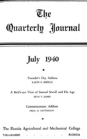 Quarterly journal, Vol. 9, No. 3, July 1940