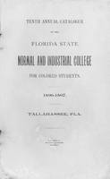 1896-1897 Tenth Annual Catalogue ; Florida State Normal and Industrial College for Colored Students