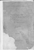 1898-1899 Twelfth Annual Catalogue; Florida State Normal and Industrial College for Colored Students, Tallahassee, Florida