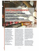 One Philanthropist can Positively Influence an Entire Country's Facility Management Practices