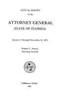 Annual report of the Attorney General, State of Florida