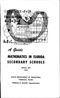 A Guide Mathematics in Florida Secondary Schools: Bulletin 26S 1964
