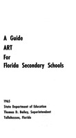 Guide, art for Florida secondary education. (1965).