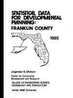 Statistical data for developmental planning: Franklin County. Vol. 7