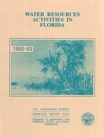 Water resources activities in Florida. 1985. U. S. Geological Survey Open-File Report no. 93-67